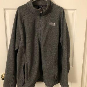 The North Face Fleece Zip Up Jacket - XXL - Gray